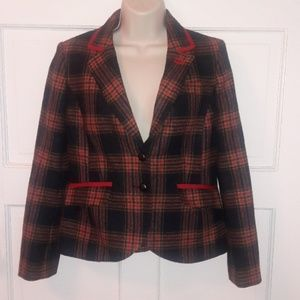 Boden British Tweed by Moon Plaid Blazer